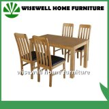 Solid Oak Wood Dining Table with 4 Chairs (W-DF-9026)