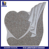 European Style Unique Heart Shaped Pink Granite Cemetery Grave Monument Slab with Low Price