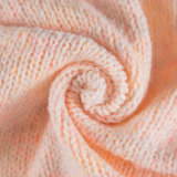 2.5nm Wave Fancy Yarn Top Dye with Wool, Cotton, Acrylic and Polyester Warm Pink