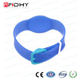 Soft Waterproof Ntag203 Chip RFID PVC/Silicone Wristband for Gym