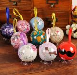Colorful Cute Small Metal Box, Party&Festival Decorative Happy Ball Gift Boxes Set Round Tin Box