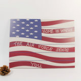 Very Good Price Quality Wooden Antique Us Flag Wall Plaque