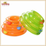 Pet Supply/Three-Layer Turntable Track Cat Toy with Plastic Ball (KB3025)