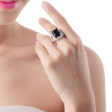 Promotional Gift White Gold Plated Diamond Ring Fashion Jewelry