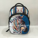 America Teenager Backpack Bags with Zebra Pattern