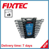 Fixtec 8PCS CS Double Open End Spanner Set Hand Tools Wrench Set