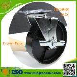 Industrial Cast Iron Castor Wheel, Heavy Duty Side Mount Caster