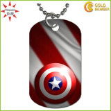 Red Men′s Necklace Chain Dynamic Dog Tag Charm Necklace