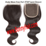 "Brazilian Hair 4""X4"" Lace Closure Body Wave, 100% Virgin Remy Human Hair, Best Quality, Competitive Price, Customized Order Available"