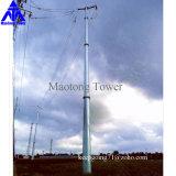 Overhead Transmission Line Galvanized Steel Pole