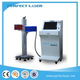 CO2 Laser Marking Machine for PP PVC Plastic Wood Ring Glass Bamboo with Rotary Fixture
