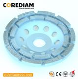 High Performance Double-Row Diamond Grinding Cup Wheel