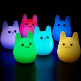 7 Colors Cute Rabbit Baby Night Light LED Night Light USB Rechargeable