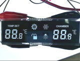 Custom Cheap Black Background Remote Control Tn Negative LCD Display with Pins Connector
