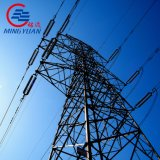 Certificated Galvanized Q345 Electric 33kv Transmission Line Steel Lattice Tower Double Circuit Steel Tower
