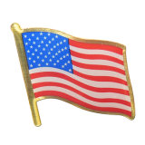China Manufacturer Wholesale Custom Christmas Gifts Cheap Flag Lapel Pin Metal Flag Pin