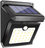 Solar Lights Outdoor, 28 LED Wireless Motion Sensor Light, IP65 Waterproof Wall Lamp Easy-to-Install Security Lights for Outdoor Garden, Patio, Yard, Deck