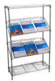 Adjustable Chrome NSF Slanted Display Rack for Book and Magazine