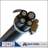 0.6/1kv PVC / XLPE Aluminium Conductor Aerial Bundled Cable Twisted ABC Cable