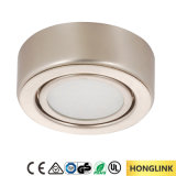 Round Surface Mounted Cabinet 12V 1.6W Lamp LED Exhibition Cabinet Light