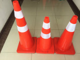 90cm with Reflective Tape PVC Plastic Flexible Retractable Traffic Cone