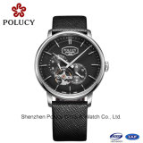 Fashion Design Stainless Steel Automatic Leather Men Japan Movement Watch