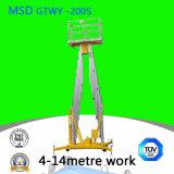 Mast Aluminum Alloy Lift Platform Elevator Hydraulic Lift Table Gtwy4 6/8/10/12-200s