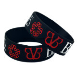 Silicone Bracelet with Silk Printing Engrave Logo