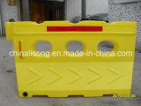1420mm/56'' Yellow Traffic Safety Plastic Water Barrier Rotational Barrier Traffic Barrier for Road Safety