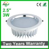 "Good Quality Die-Casting Aluminum White 2.5""3W LED Downlight"