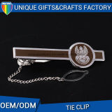 Zinc Alloy Fashion Tie Clip for Gentleman with Chain