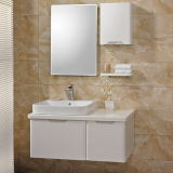 Modern White Bathroom Cabinet with Two Base Cabinet (OP13-013-100)