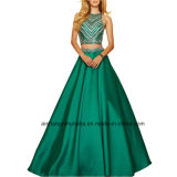 Women Two Piece Beading Bodice Chiffon Evening Dress Porm Dress