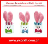 Easter Decoration (ZY15Y308-1-2-3) Easter Rabbit Jar Party Decoration Easter Gift Use Pen Holder