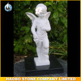 Hand Carved Stone Cherub Angel Sculpture