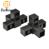Customized Plastic Square Tube Connector with Good Quality