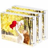 Custom Sizes Clear Acrylic Strong Magnetic Photo Block Frames