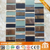New Interior Wall Decorative Crystal Glass Mix Porcelain Tiles (M555032)