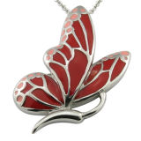 Resin Enamel Butterfly Women Necklace
