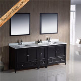 Fed-1074 84 Inch Top Quality Modern Free Standing Espresso Bathroom Vanities Bath Furniture