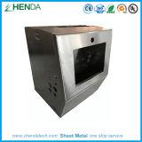 Custom Sheet Metal Box Fabrication Stailess Steel Brushed Finish