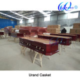 Cherry Color Adult Chinese Poplar Best Seller Coffin and Casket