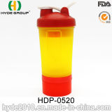 450ml Blender Shaker Bottle with Stainless Steel Ball, Shaker Bottle (HDP-0520)
