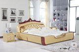 Milano Leather Bed Frame in Yellow