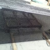 Popular Granite Raw Black Galaxy Gang Saw Slab