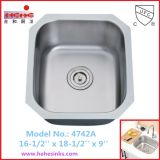 Brush Finish Stainless Steel Kitchen Sink, Bar Sink, Wash Hand Sink (4742)
