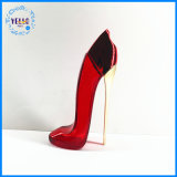 80ml Cosmetic Packaging Empty Red High Heel Shoes Shape Glass Perfume Bottle
