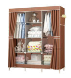 Modern Simple Wardrobe Household Fabric Folding Cloth Ward Storage Assembly King Size Reinforcement Combination Simple Wardrobe (FW-23G)