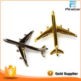 Zinc Alloy Material Silver/Gold Plating 3D Airplane Lapel Pin