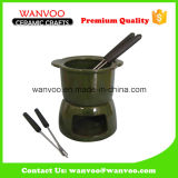 Porcelain Fondue Sets Wholesale for Cookware Dinnerware with Forks
